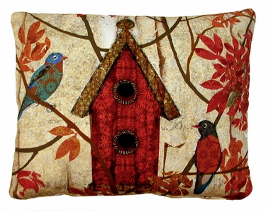 Prism Garden Red Outdoor Pillow - Click to enlarge