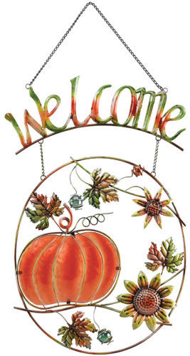 Pumpkin Welcome Sign - Click to enlarge