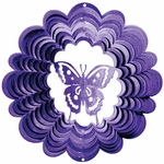 Purple Butterfly Wind Spinner