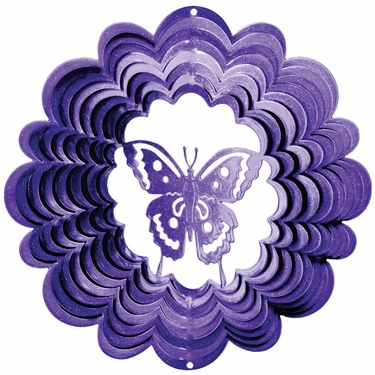 Purple Butterfly Wind Spinner - Click to enlarge
