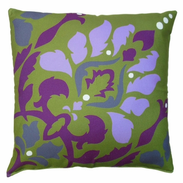 Purple Damask Outdoor Pillow - Click to enlarge