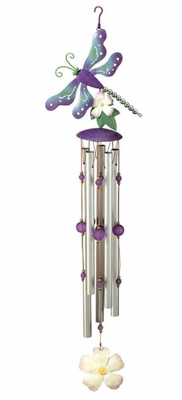Purple Dragonfly Wind Chime - Click to enlarge