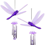 Purple Dragonfly Wind Chimes (Set of 2)