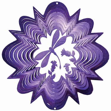 Purple Dragonfly Wind Spinner - Click to enlarge