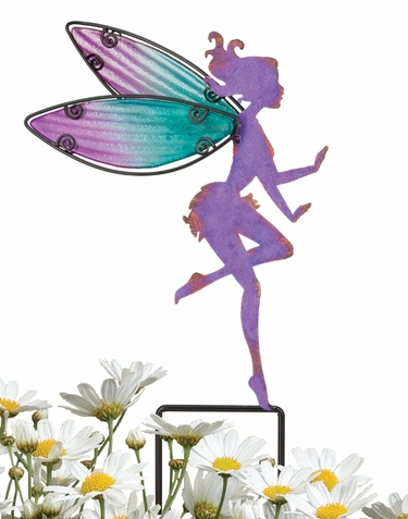 Small Purple Fairy Stakes (Set of 4) - Click to enlarge