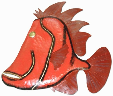 Purple Fin Fish Wall Decor - Click to enlarge