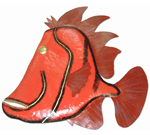Purple Fin Fish Wall Decor