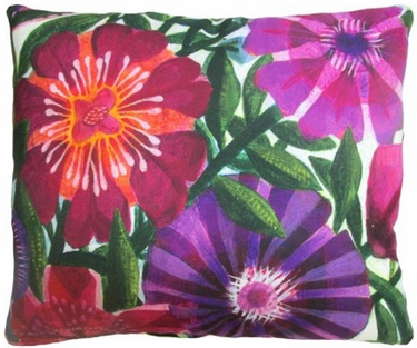 Purple Flowers Outdoor Pillow - Click to enlarge