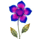 Purple Glass Flower Stake
