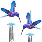 Purple Hummingbird Chimes (Set of 2)