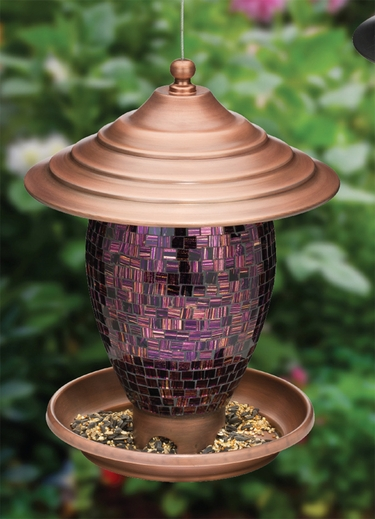 Purple Tiles Bird Feeder - Click to enlarge