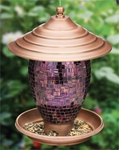 Purple Tiles Bird Feeder
