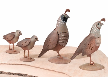 Metal Quail Family Decor (Set of 4) - Click to enlarge