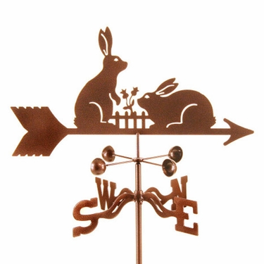 Rabbits with Fence Weathervane - Click to enlarge
