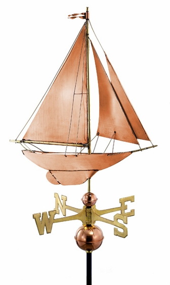 Racing Sloop Sailboat Weathervane - Click to enlarge