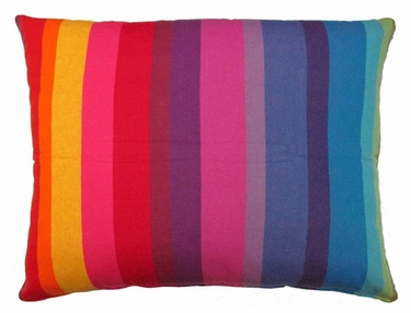 Rainbow Stripe Outdoor Pillow - Click to enlarge