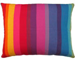 Rainbow Stripe Outdoor Pillow
