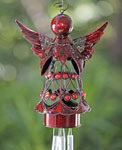 Red Angel w/Heart Wind Chime
