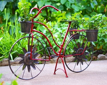 Red Bicycle Planter - Click to enlarge