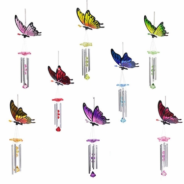 Mixed Butterfly Wind Chimes (Set of 2) - Click to enlarge