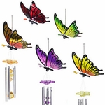 Mixed Butterfly Wind Chimes (Set of 2)