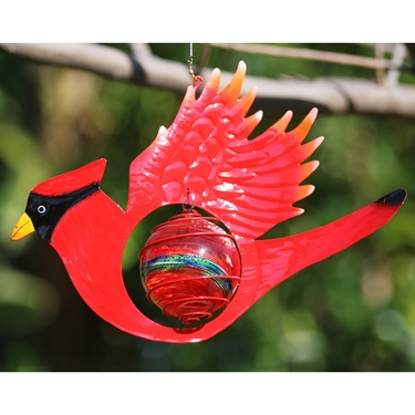 Red Cardinal Bird Glow Catcher - Click to enlarge