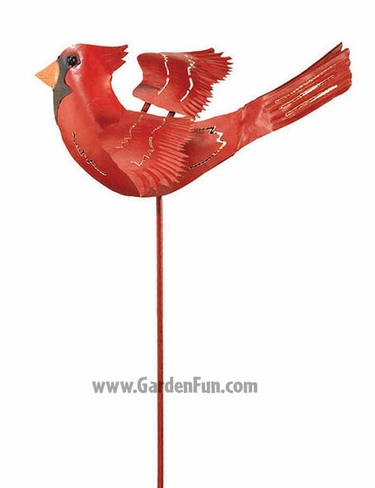 Red Cardinal Bird Metal Decor - Click to enlarge
