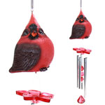 Audubon Red Cardinal Wind Chimes (Set of 2)