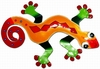 Red Diamond Gecko Wall Decor