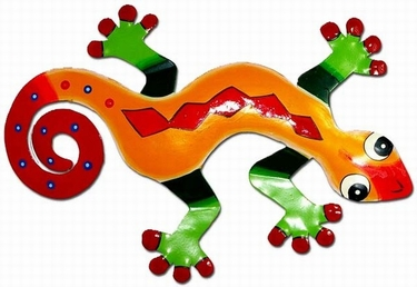 Red Diamond Gecko Wall Decor - Click to enlarge