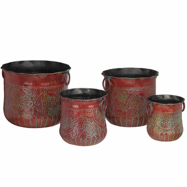Red Grapes Nesting Planters (Set of 4) - Click to enlarge