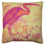 Red Heron Outdoor Pillow