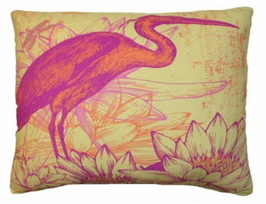 Red Heron Outdoor Pillow - Click to enlarge