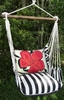 True Black Red Hibiscus Hammock Chair Swing Set