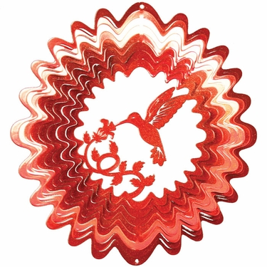 Red Hummingbird Wind Spinner - Click to enlarge