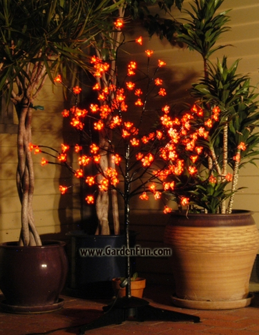 Red LED Cherry Blossom Tree - Click to enlarge