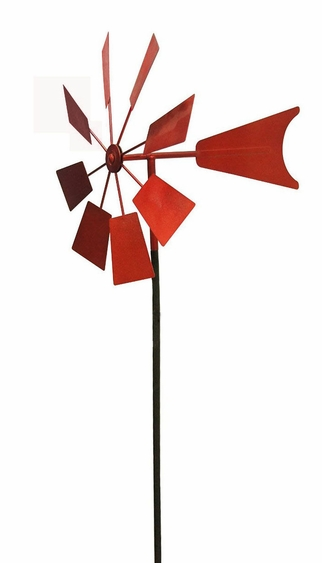 Red Metal Windmill - Click to enlarge