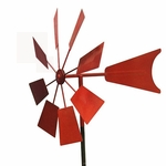 Red Metal Windmill