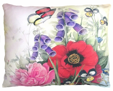Red Poppies Outdoor Pillow - Click to enlarge