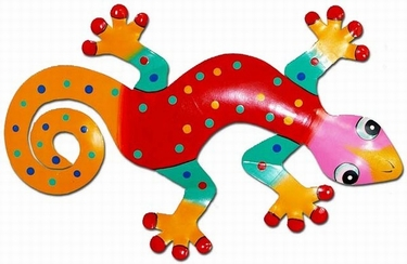 Red Spotted Gecko Wall Decor - Click to enlarge