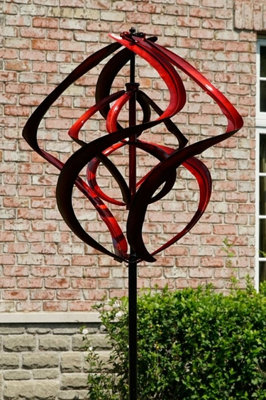 Red Twister Wind Spinner - Click to enlarge