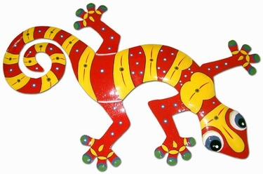 Red Yellow Gecko Wall Decor - Click to enlarge