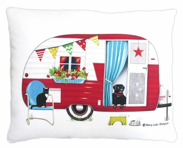 Retro Camper Outdoor Pillow - Click to enlarge