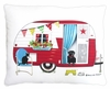 Retro Camper Outdoor Pillow