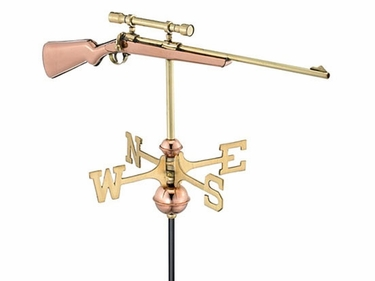 Rifle w/ Scope Weathervane - Click to enlarge