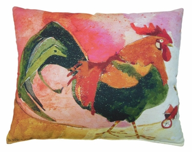 Rooster Outdoor Pillow - Click to enlarge