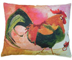 Rooster Outdoor Pillow