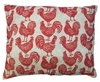 Roosters All Over Outdoor Pillow