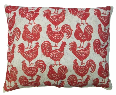 Roosters All Over Outdoor Pillow - Click to enlarge