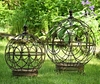Round Globe Plant Stands (Set of 2) - Antique Rust